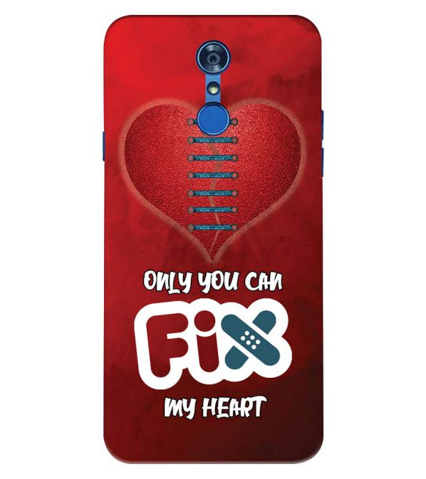 Fix My Heart Back Cover for LG Q7