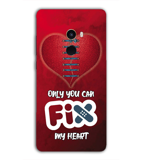 Fix My Heart Back Cover for Xiaomi Mix 2