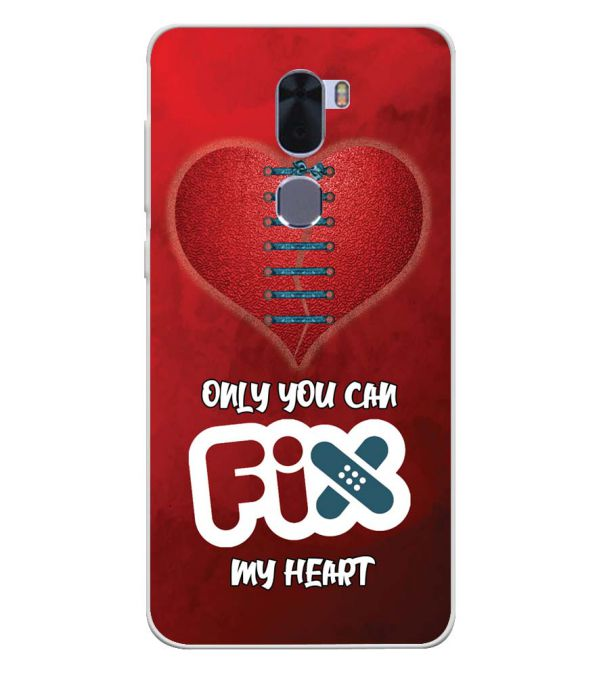 Fix My Heart Soft Silicone Back Cover for Coolpad Cool 1