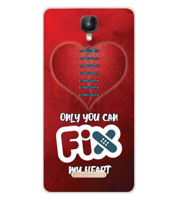 Fix My Heart Soft Silicone Back Cover for Intex Aqua Lions 2 4G