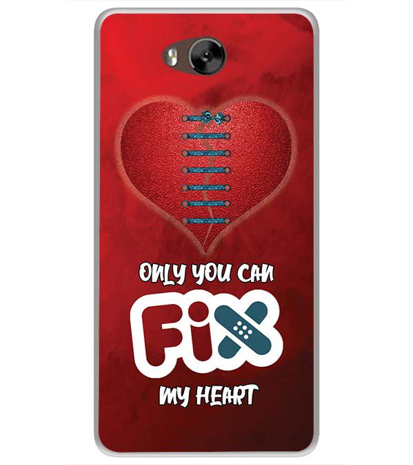 Fix My Heart Soft Silicone Back Cover for LYF Wind 4s