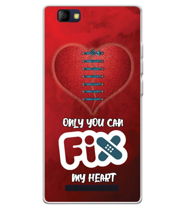 free shipping 93bfc afb86 Fix My Heart Soft Silicone Back Cover for LYF Wind 7