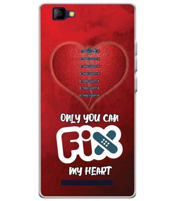 Fix My Heart Soft Silicone Back Cover for Lyf Wind 7S