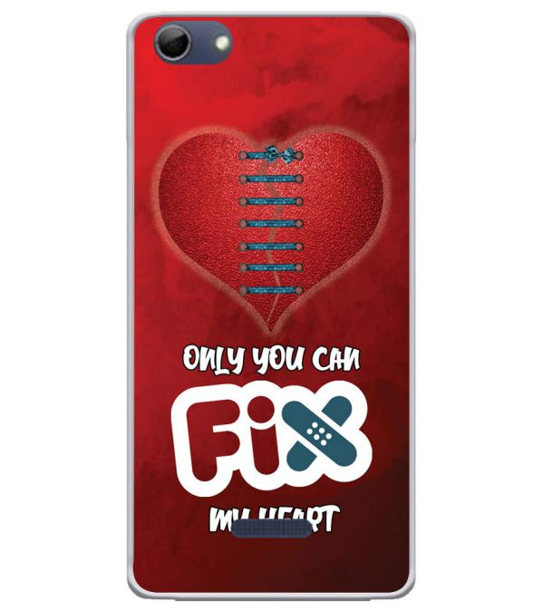 Fix My Heart Soft Silicone Back Cover for Micromax Selfie 3 Q348