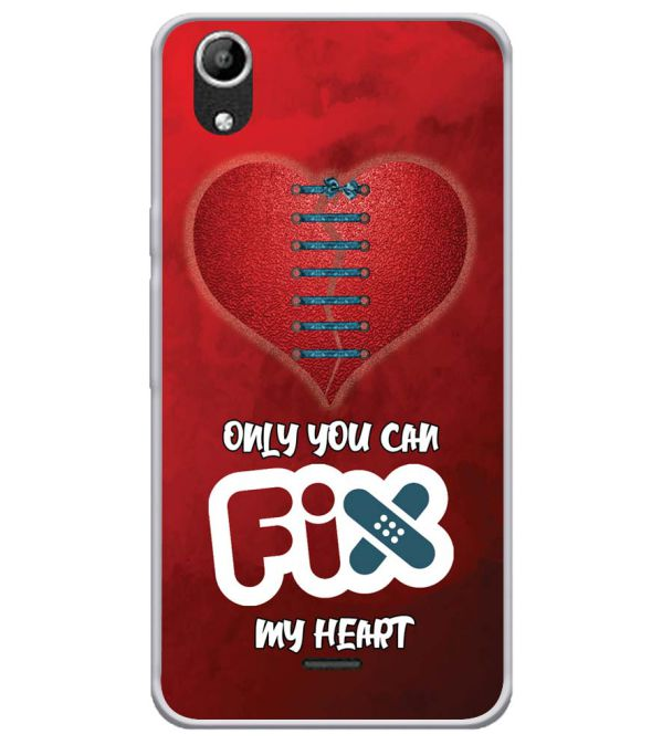 Fix My Heart Soft Silicone Back Cover for Micromax Selfie Lens Q345