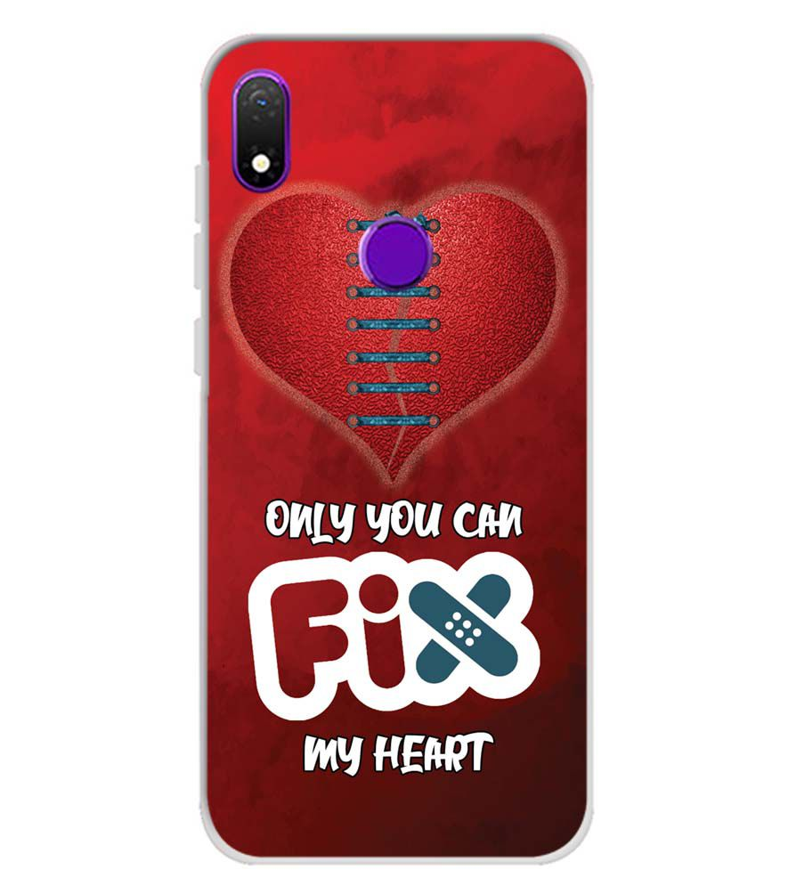 Fix My Heart Soft Silicone Back Cover for Mobiistar X1 Notch