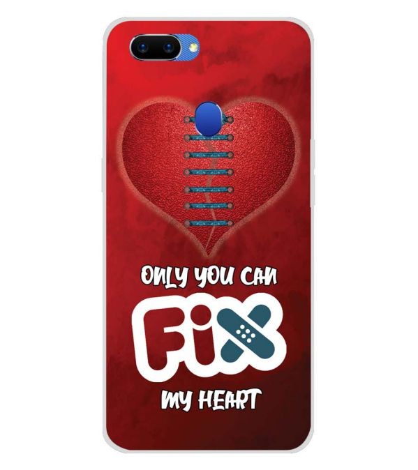 Fix My Heart Soft Silicone Back Cover for Oppo A5