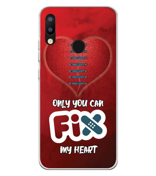 Fix My Heart Soft Silicone Back Cover for Tecno Camon i2