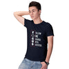 Focus Men T-Shirt-Navy Blue