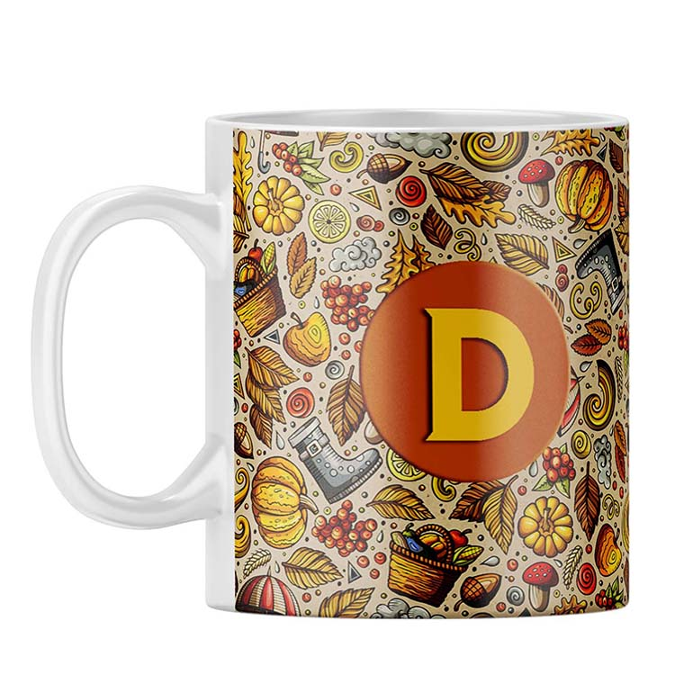 Foodie Delight Customised Alphabet Coffee Mug