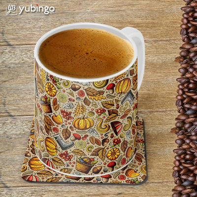 Foodie Delight Customised Alphabet Coffee Mug With Coaster-Image4