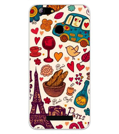 French Delight Back Cover for Intex Aqua Lions X1
