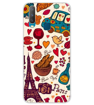 pretty nice 47ca0 b0a58 Travel Lover Collection Back Cover for Vivo Y17