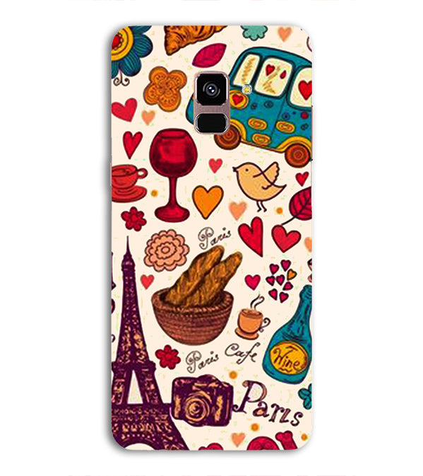 French Delight Back Cover for Samsung Galaxy A8 (2018)