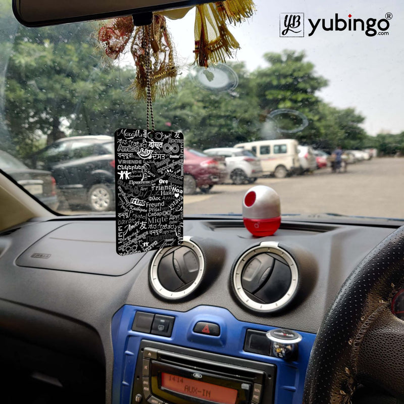 Friend in All Languages Car Hanging