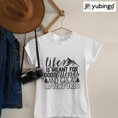 Friends & Adventures T-Shirt-White