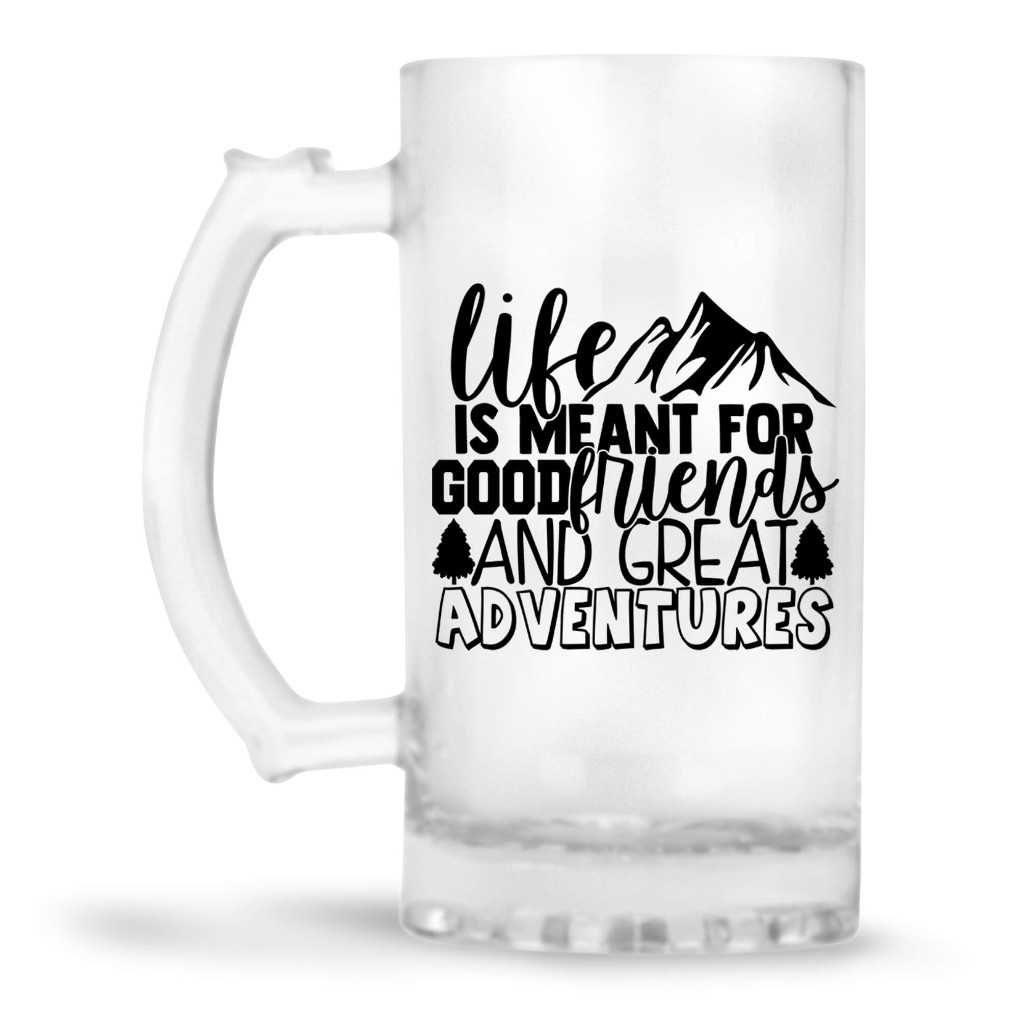 Friends & Adventures Beer Mug