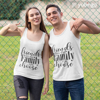 Friends Are Family Tank Tops-White