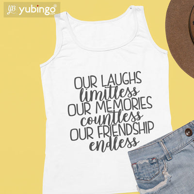 Friendship Is Endless Tank Tops-White
