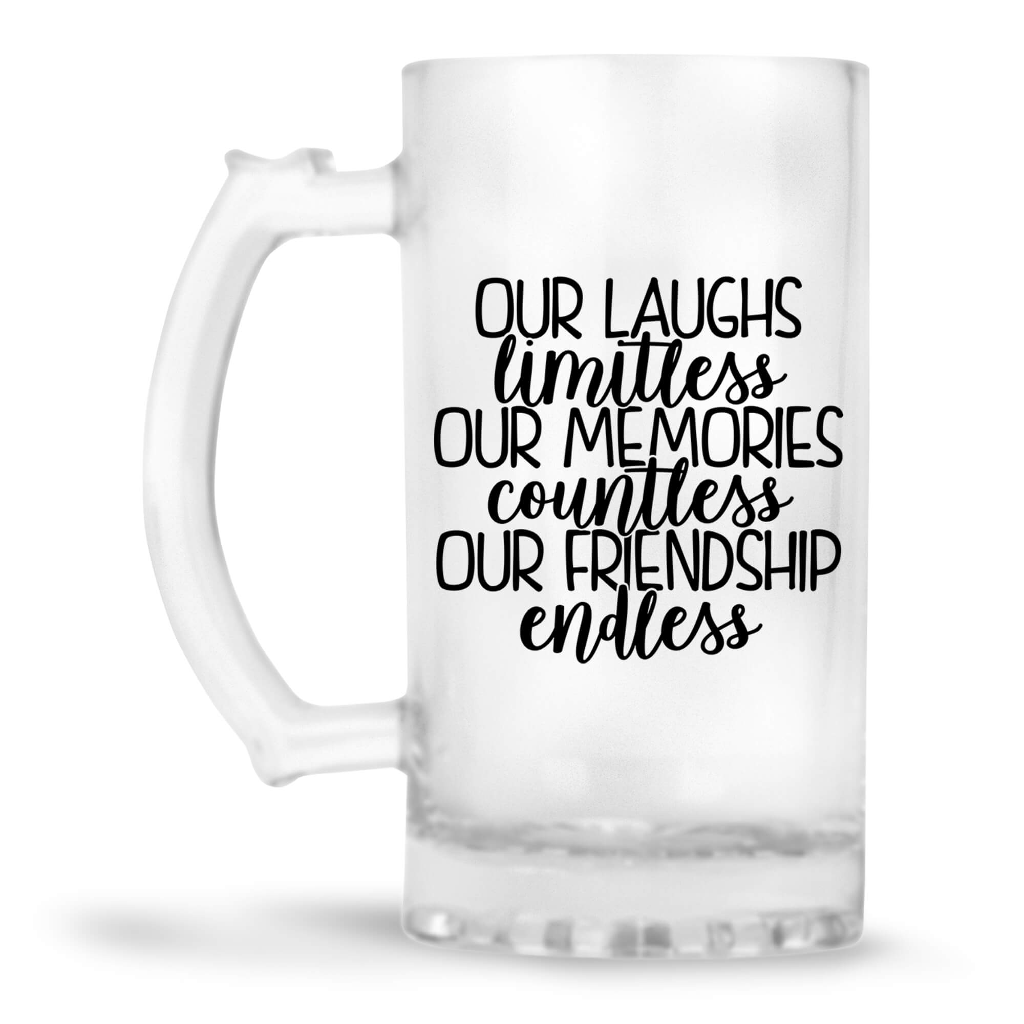 Friendship Is Endless Beer Mug