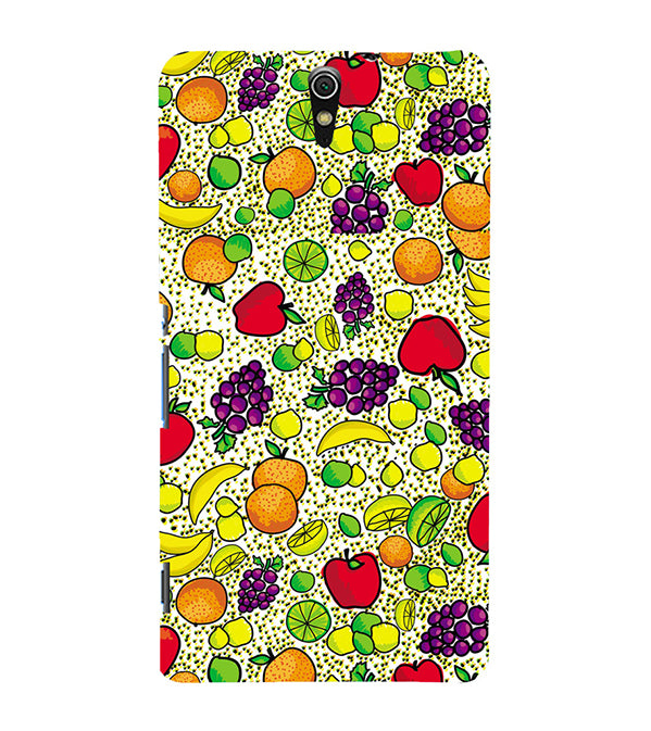 Fruits Pattern Back Cover for Sony Xperia C5