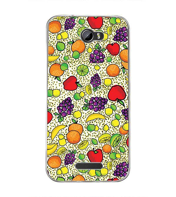 Fruits Pattern Back Cover for Intex Lion 3