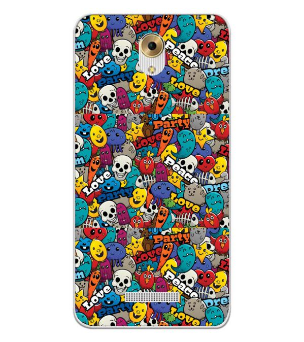 Funny Pattern Back Cover for Coolpad Mega 5M