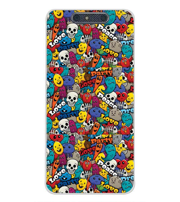Funny Pattern Back Cover for Micromax Dual 4 E4816-Image3