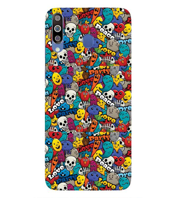 Funny Pattern Back Cover for Samsung Galaxy M30