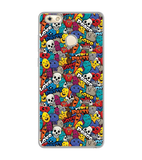 Funny Pattern Soft Silicone Back Cover for Gionee M7 Power