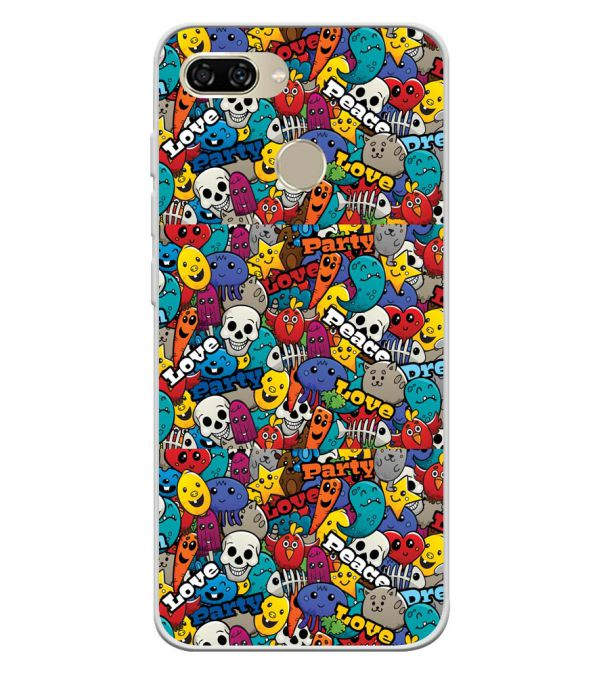 Funny Pattern Soft Silicone Back Cover for Gionee S11 lite