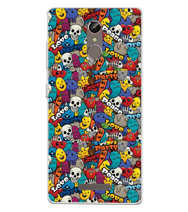 Funny Pattern Soft Silicone Back Cover for Gionee S6s