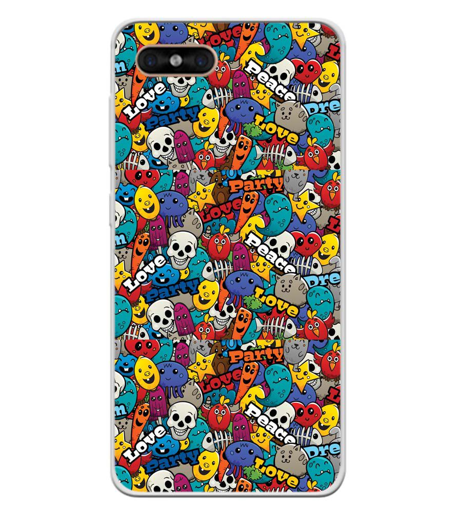Funny Pattern Soft Silicone Back Cover for Gome C7