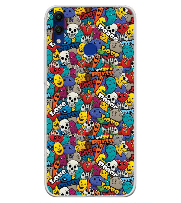 Funny Pattern Soft Silicone Back Cover for Honor 8C