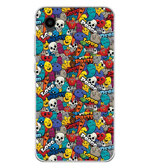 Funny Pattern Soft Silicone Back Cover for Intex Aqua 4G Mini