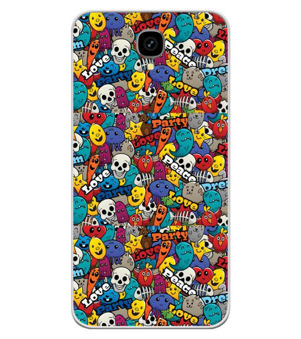 Funny Pattern Soft Silicone Back Cover for Intex Aqua Lions T1 Lite