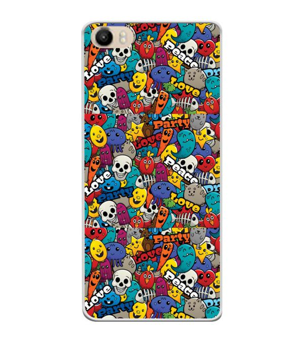 Funny Pattern Soft Silicone Back Cover for Itel PowerPro P41