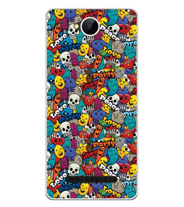 Funny Pattern Soft Silicone Back Cover for Karbonn A45 Indian
