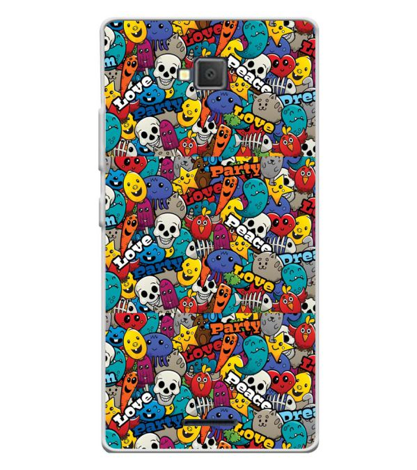Funny Pattern Soft Silicone Back Cover for Lava A82