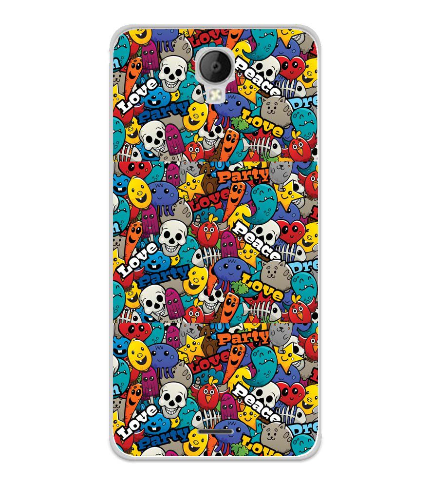 Funny Pattern Soft Silicone Back Cover for Micromax Spark Go