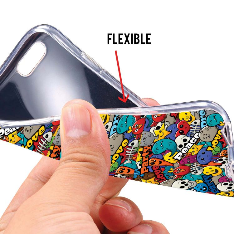 Funny Pattern Soft Silicone Back Cover for Mobiistar X1 Notch