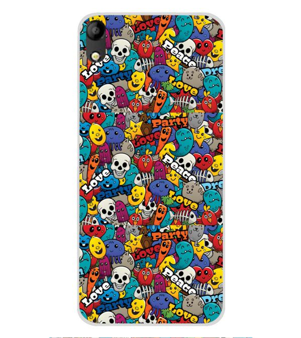 Funny Pattern Soft Silicone Back Cover for Mobistar C1
