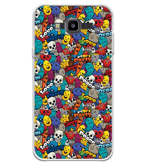 Funny Pattern Soft Silicone Back Cover for Samsung Galaxy J7 Nxt