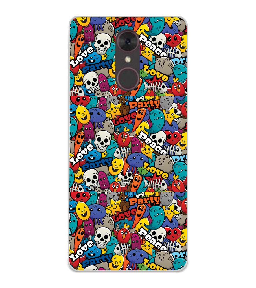 Funny Pattern Soft Silicone Back Cover for Spice F311