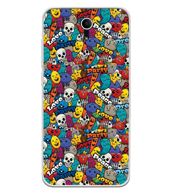 Funny Pattern Soft Silicone Back Cover for Swipe Elite Plus