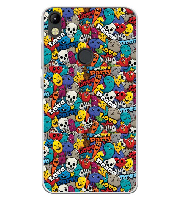 Funny Pattern Soft Silicone Back Cover for Tecno Camon I