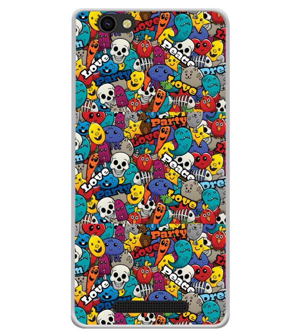 Funny Pattern Soft Silicone Back Cover for Xolo ERA X