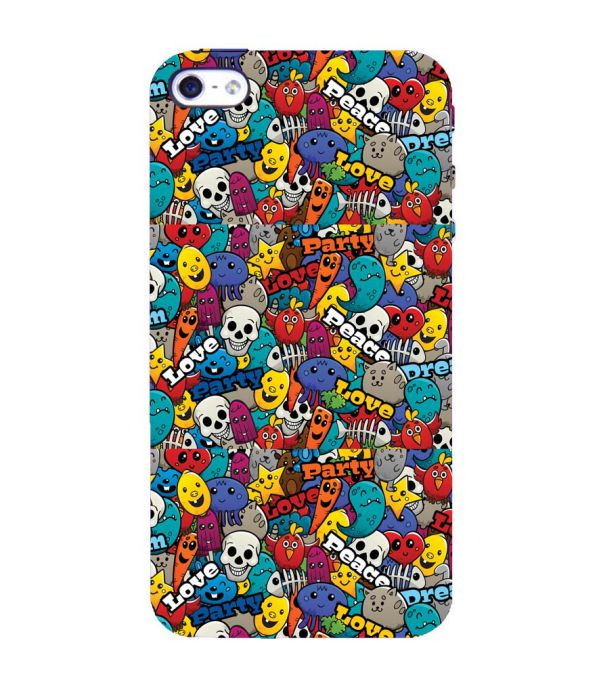 Funny Pattern Back Cover for Apple iPhone 4 : 4S