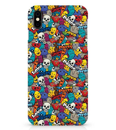 Funny Pattern Back Cover for Apple iPhone X