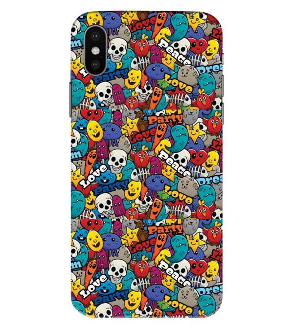 Funny Pattern Back Cover for Apple iPhone XS Max (Big 6.5 Inch Screen)